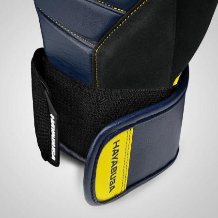 Hayabusa Перчатки Боксерские T3 Темно синее/Желтые