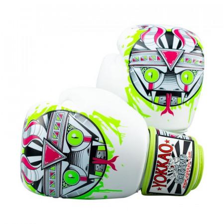 Yokkao Перчатки боксерские Apex Snake Белые