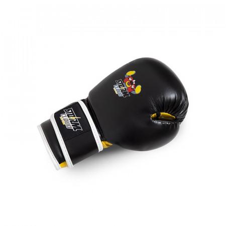 StormCloud Перчатки боксерские детские Fighter Черно/Желтые