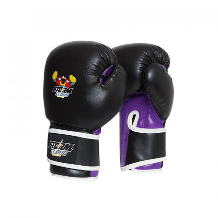StormCloud Перчатки боксерские детские Fighter Черно/Фиолетовые