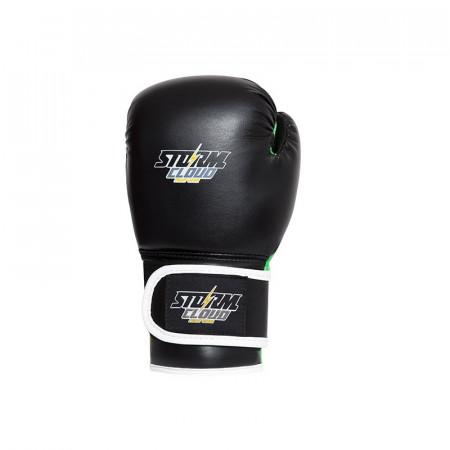 StormCloud Перчатки боксерские детские Classic Черно/Зеленые