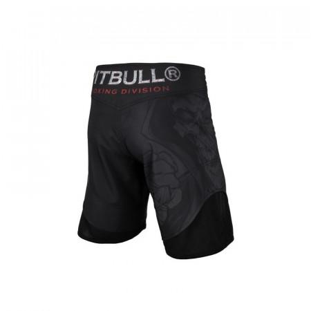 Pitbull Шорты MMA Mesh Skull Boxer Черные