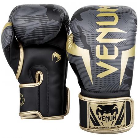 Venum Перчатки боксерские Elite Dark Camo/Gold