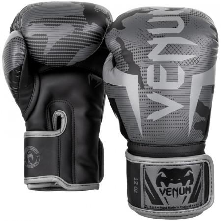 Venum Перчатки боксерские Elite Black/Dark Camo
