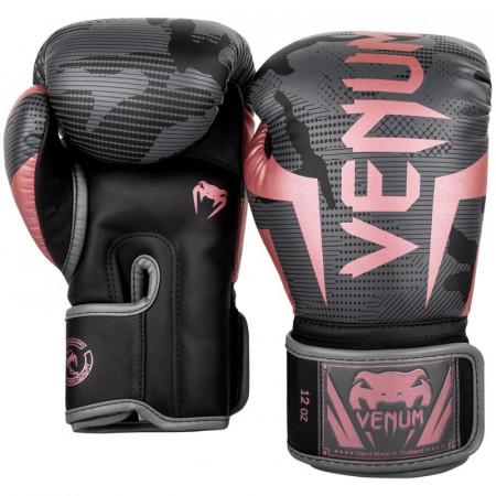 Venum Перчатки боксерские Elite Черно/Розовые