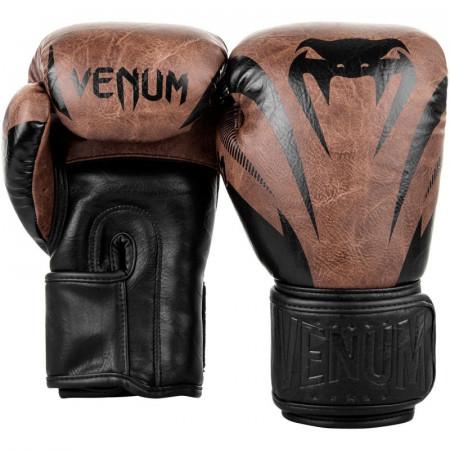 Venum Перчатки боксерские Impact Черно/Коричневые
