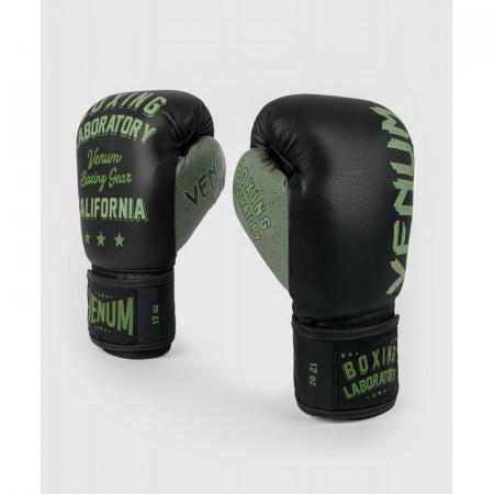 Venum Перчатки боксерские Boxing Lab Черно/Зеленые
