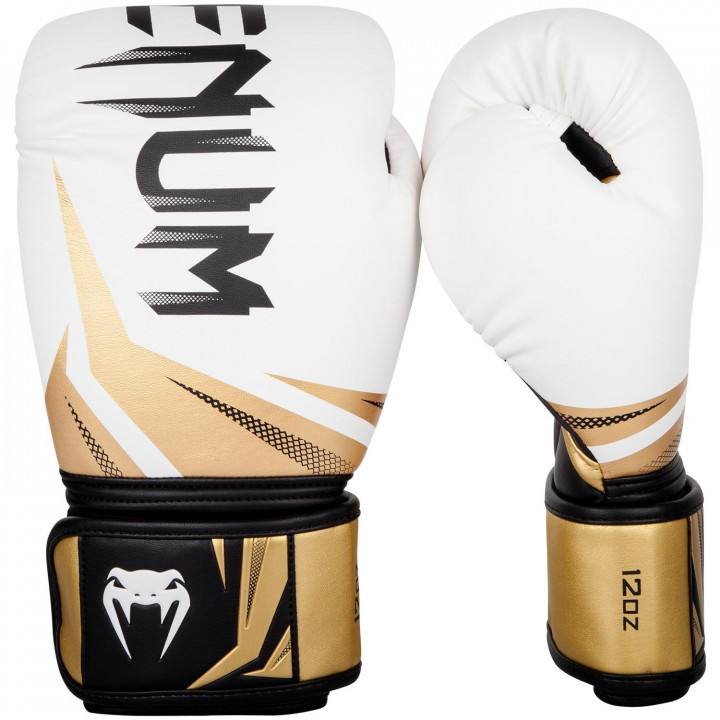 Venum Перчатки боксёрские Challenger 3.0 Белый/Золотой