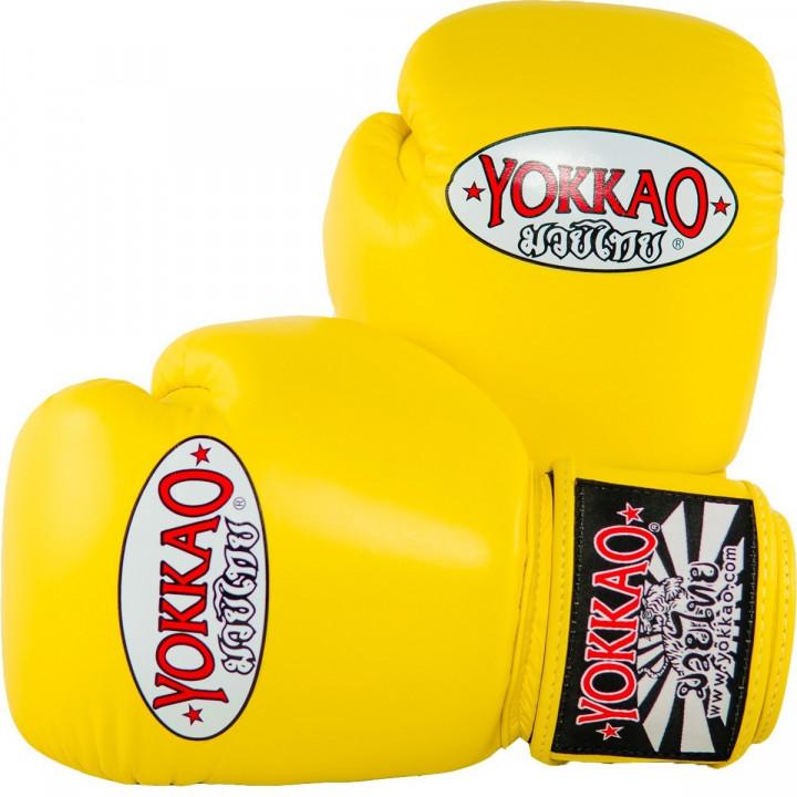 Перчатки боксёрские Yokkao Matrix желтые