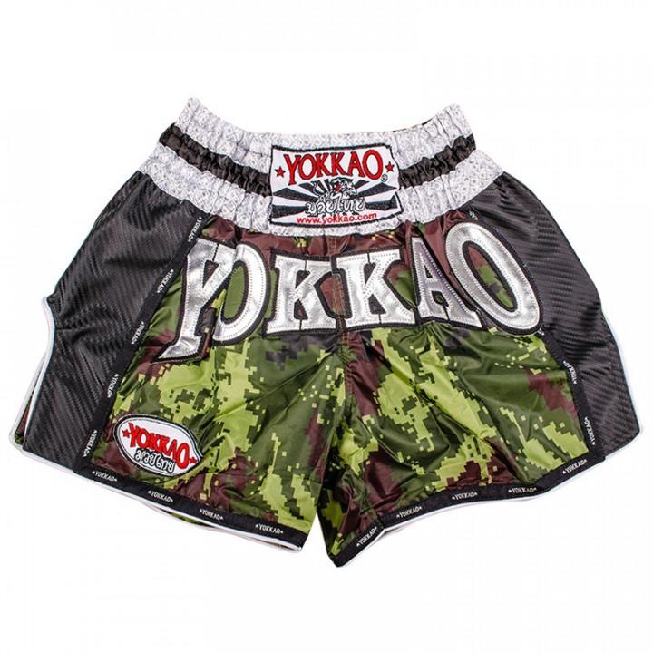 Yokkao Шорты для Тайского бокса Army Зелёные