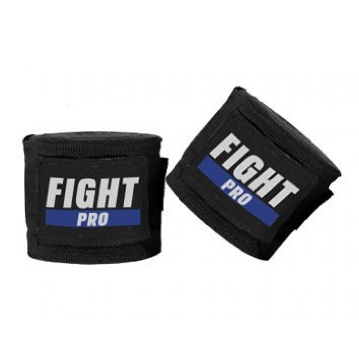 Fight Pro Бинты Боксерские Basic Черный