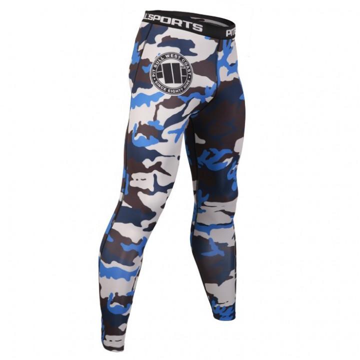 Pit Bull Компрессионные штаны Синий Камуфляж