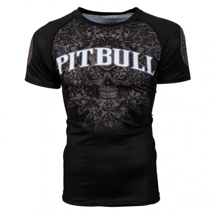 Pit Bull Рашгард Skull Короткий Рукав Черный