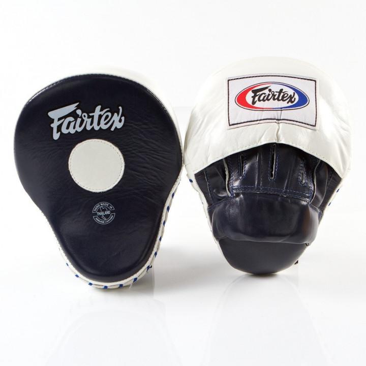Боксерские лапы Fairtex FMV9 черно- белые