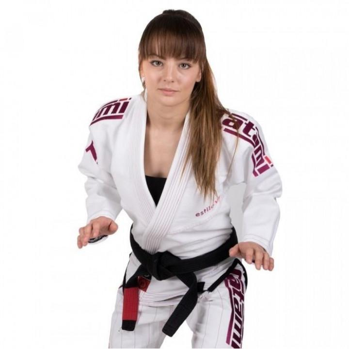 Tatami Kimono/Gi Женское Estilo 6.0 Бело/Розовое