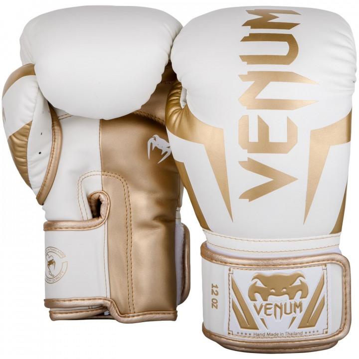 Venum Перчатки Боксёрские Elite Белые/Золотые