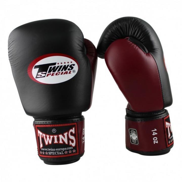 Twins Перчатки Боксёрские BGVL-3 Чёрный/Вишнёвый
