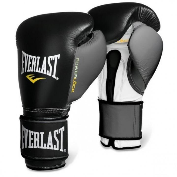 Боксерские перчатки Powerlockот Everlast черно-серые