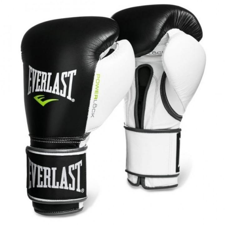 Боксерские перчатки Powerlockот Everlast черно-белые