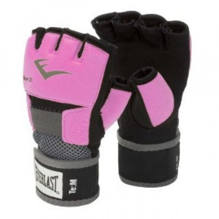 Боксерские неопреновые перчаткиEvergel от Everlast розовые