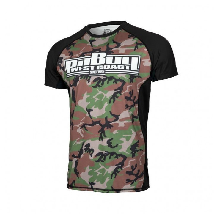 Pitbull Рашгард с Коротким Рукавом Mesh Performance Pro Plus Woodland Boxing