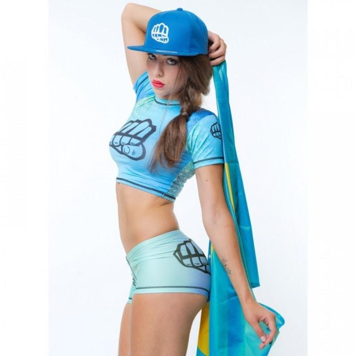 Женская футболка Formma Belly Blade голубая