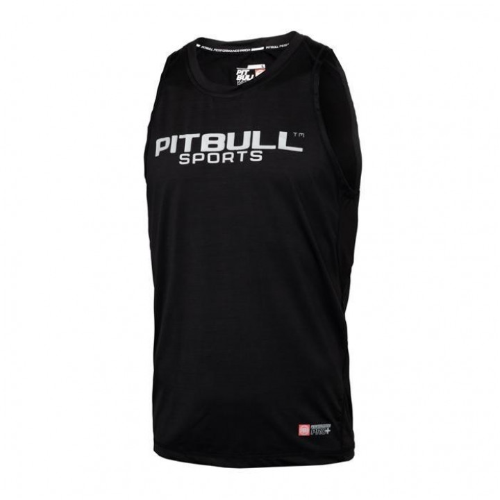 Pitbull Tank Top Рашгард с Коротким Рукавом Performance Pro Plus Чёрный