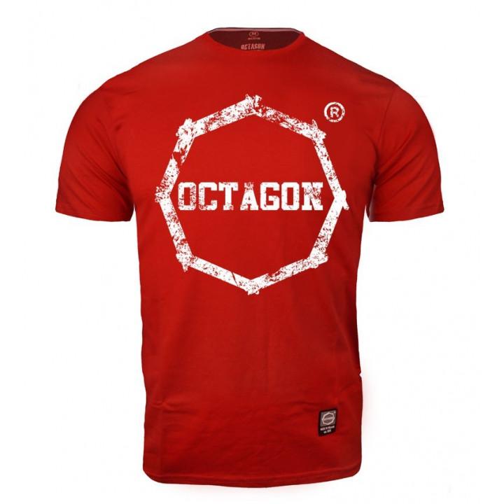 Octagon T-shirt Logo Smash Красная