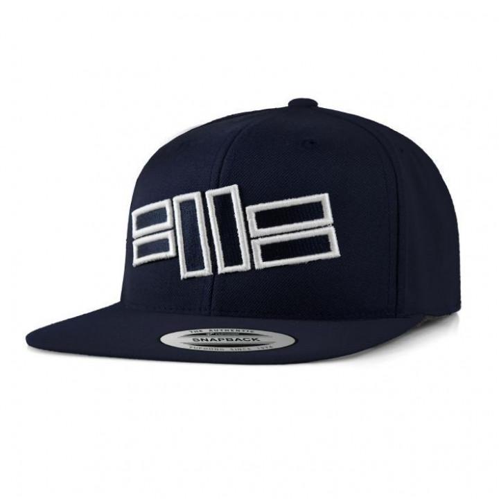 Pitbull Snapback Flat Logo Темно синяя
