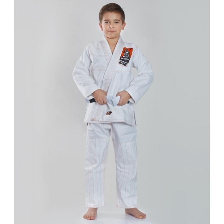 Детское кимоно/ Гидля BJJ Tensai Ground Game белое