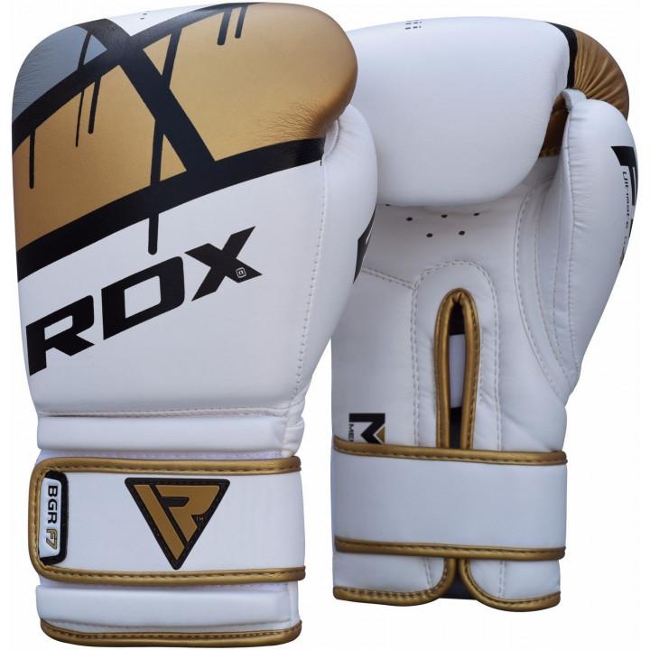 Перчатки боксерские RDX BGR-F7 золотые