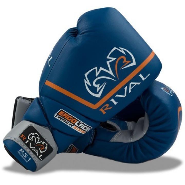 Перчатки боксерские Rival RS1 Pro Sparring синие