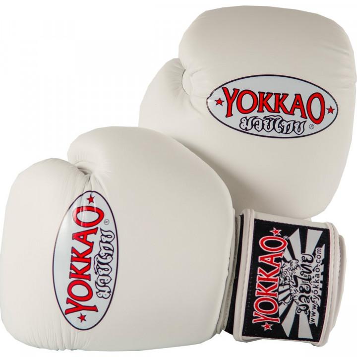 Перчатки боксёрские Yokkao Matrix белые