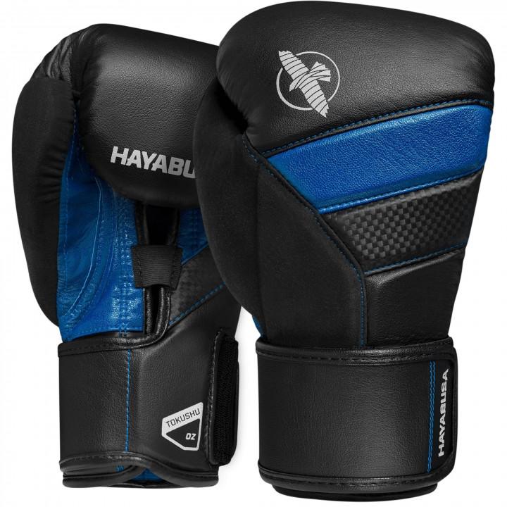 Боксерские перчатки Hayabusa T3 черно-синие