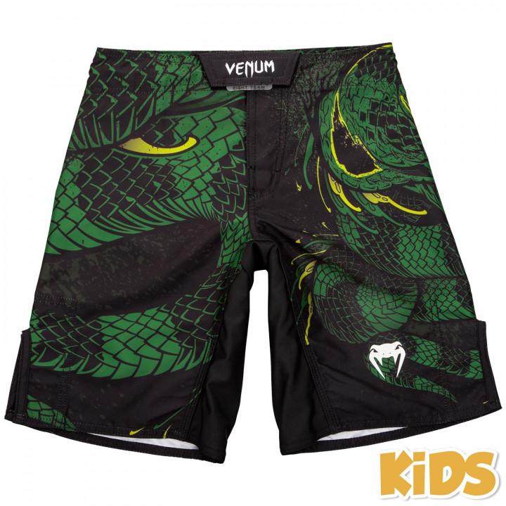 Детские шорты для MMA Venum Green Viper черно-зеленые