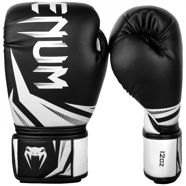 Venum Перчатки боксерские Challenger 3.0 Черно/Белые