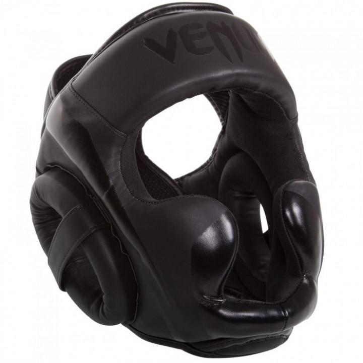 Venum Шлем боксерский  Elite Черный матовый