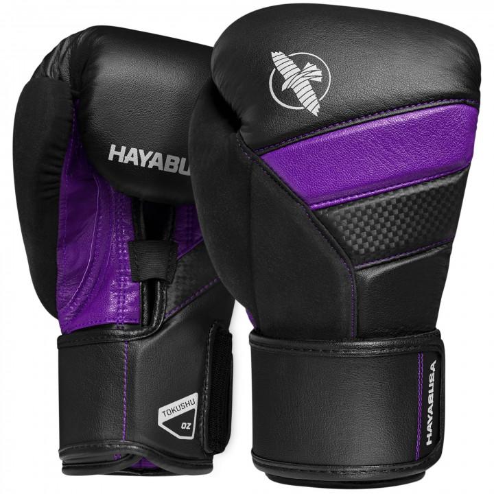 Боксерские перчатки Hayabusa T3 черно-фиолетовые