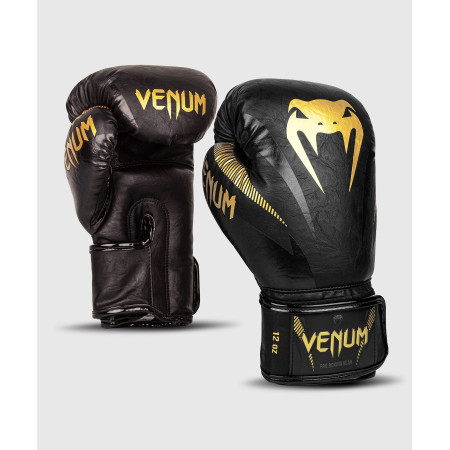 Venum Перчатки боксерские Impact Gold/Black