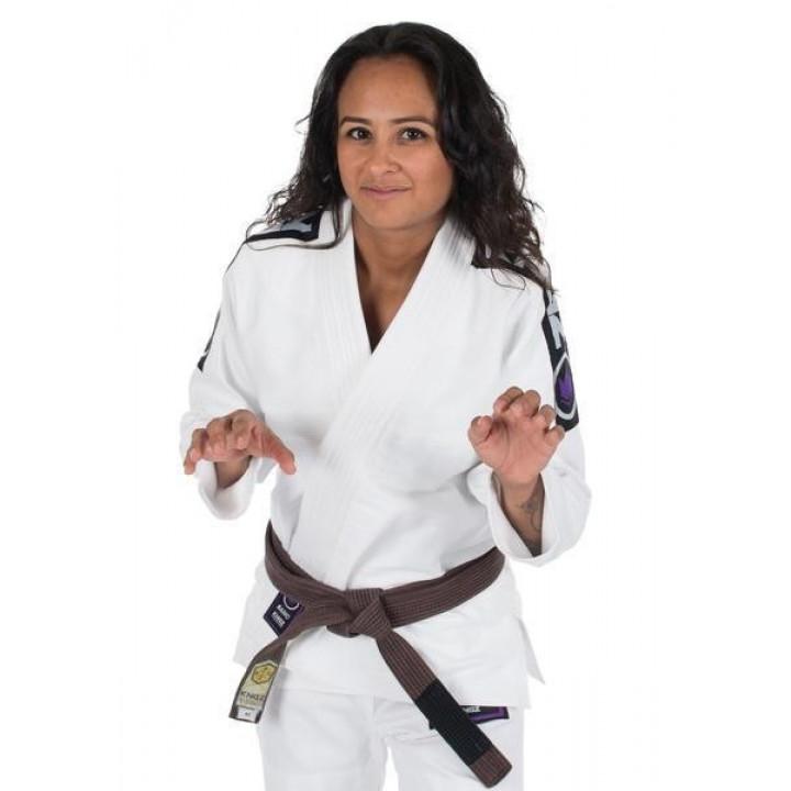 KiNGZ Kimono/Gi BJJ Женское Basic 2.0 Белый (белый пояс в комплекте)