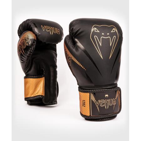 Venum Перчатки боксерские Impact Black/Brown