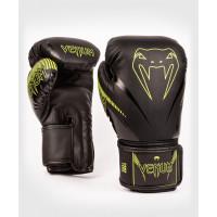 Venum Перчатки боксерские Impact Black/Green