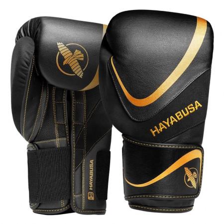 Hayabusa Перчатки боксерские H5 Черно/Золотые
