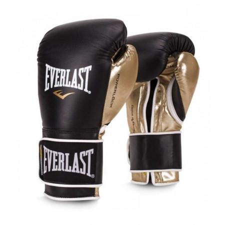 Everlast Перчатки боксерские Powerlock PU Черно/Золотые