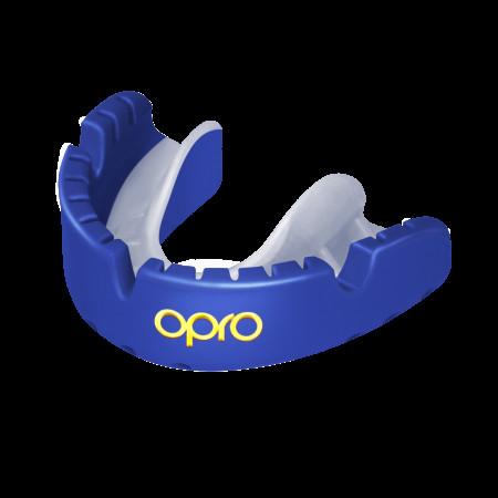 Opro Капа UFC Gold Braces Синяя (для брекетов)