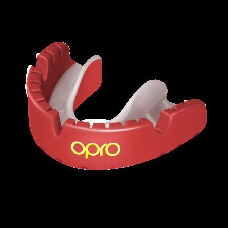 Opro Капа UFC Gold Braces Красная (для брекетов)