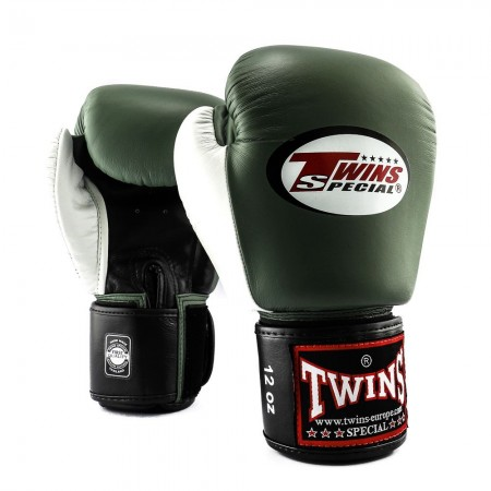 Twins Перчатки боксерские BGVL-4 Черно/Оливково/Белые