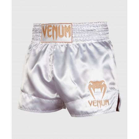Шорты для Муай Тай Venum Classic бело-золотые