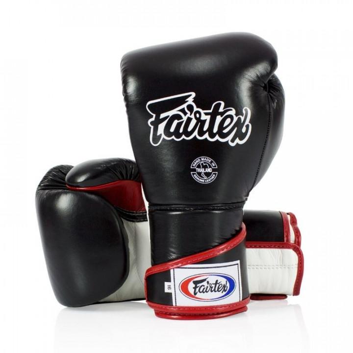 Перчатки Боксерские Fairtex BGV6 Черно- бело- бордовые