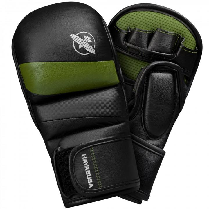 Перчатки для MMA Hayabusa T3 7oz чёрно-зеленые